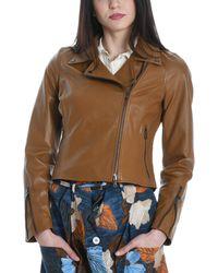Betta Corradi Brown Leather Outerwear Jacket