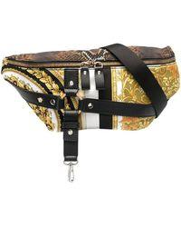Versace Multi-print Harness Belt Bag - Black