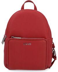 Liu Jo Red Polyurethane Backpack