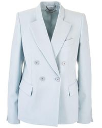 Stella McCartney Light Blue Wool Blazer