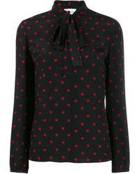 RED Valentino Silk Blouse - Black