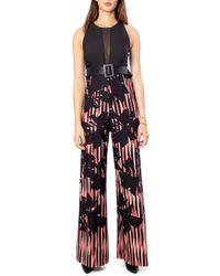 Rinascimento Black Polyester Jumpsuit