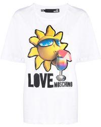 Love Moschino BAUMWOLLE T-SHIRT - Weiß