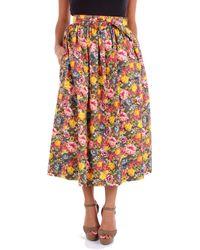 Marni Multicolour Cotton Skirt - Orange