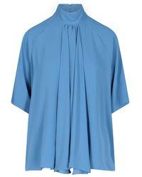 Maison Margiela Cotton Blouse - Blue