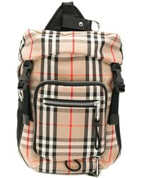 Burberry Beige Cotton Backpack - Natural