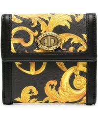 Versace Jeans Couture Barocco-print Wallet - Black