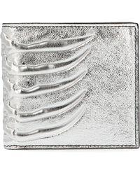 Alexander McQueen Silver Leather Wallet - Metallic