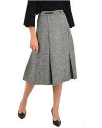 Celine Wool Skirt - Gray