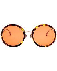 Dior - Brown Acetate Sunglasses - Lyst