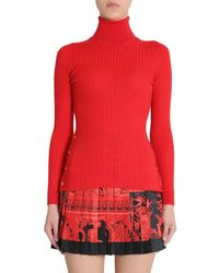 Versace ROT WOLLE PULLOVER