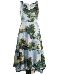 Comme des Garçons A-Linien-Kleid mit Print - Blau