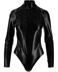 Saint Laurent Rubber Bodysuit - Black