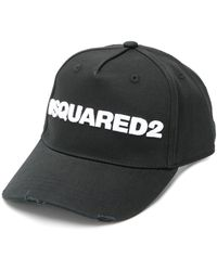DSquared² Baseballkappe mit Logo - Schwarz