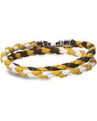 Tod's - Multicolour Leather Bracelet - Lyst