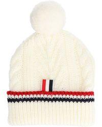Thom Browne White Wool Hat
