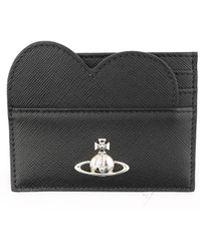Vivienne Westwood Black Leather Card Holder