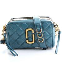 Marc Jacobs - Blue Leather Shoulder Bag - Lyst