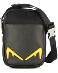 Fendi Black Leather Messenger Bag