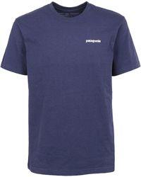 Patagonia Cotton T-shirt - Blue