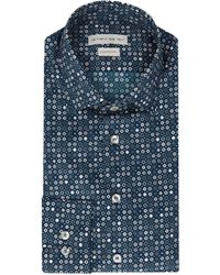 Etro Blue Cotton Shirt