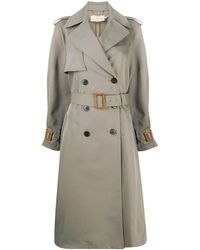 Tory Burch Polyester Trench Coat - Grey