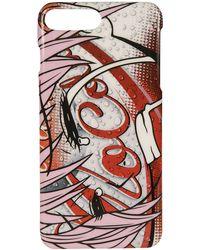 Moschino Smartphone-Case für iPhone 7 Plus und 8 Plus - Rot