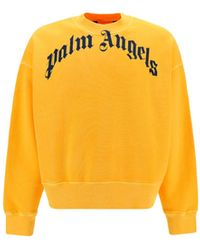Palm Angels ANDERE MATERIALIEN SWEATER - Gelb