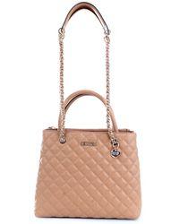 Guess Hwvg7970060 Synthetic Fibres Handbag - Natural