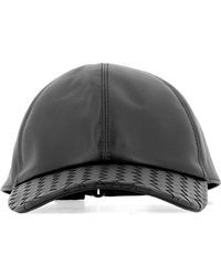 Bottega Veneta - Black Leather Hat - Lyst