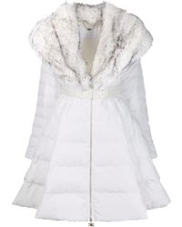 Elisabetta Franchi White Polyester Down Jacket