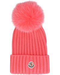 Moncler Fuchsia Wool Hat - Multicolor