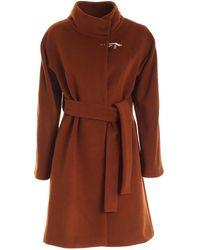 Fay Belt Coat - Brown