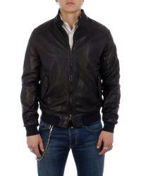 Altea Black Leather Outerwear Jacket