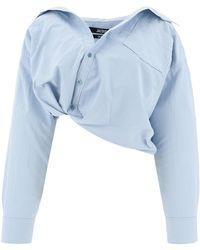 Jacquemus 213sh11213128320lightblue andere materialien hemd - Blau