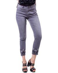 Desigual Grey Cotton Jeans - Gray