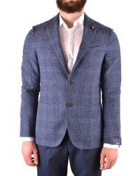 Lardini Blue Cotton Blazer