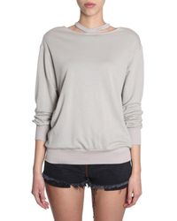 Unravel Project BAUMWOLLE PULLOVER GRAU