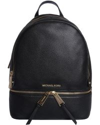 Michael Kors Black Leather Backpack