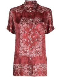 Golden Goose Hemd mit Bandana-Print - Rot