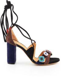 Maliparmi Sa0411 Leather Sandals - Blue