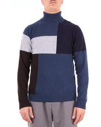Heritage Blue Wool Sweater
