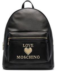 Love Moschino Rucksack mit Logo - Schwarz