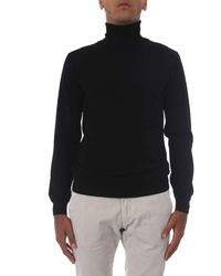 Zanone - Black Wool Sweater - Lyst