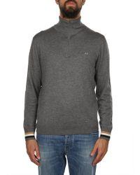 Sun 68 - Grey Cotton Sweater - Lyst