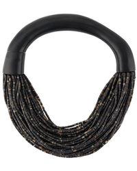 Monies 'Mantova' Perlenkette - Schwarz