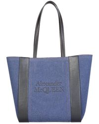 Alexander McQueen ANDERE MATERIALIEN TOTE - Blau