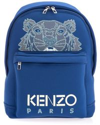 KENZO Blue Polyester Backpack
