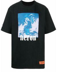 """Heron Preston T-Shirt mit """"Heron""""-Print - Schwarz"""