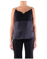 Versace Silk Tank Top - Black